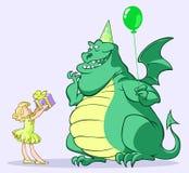 дракон дня рождения Стоковые Фото