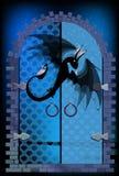 дракон и двери предохранители дракона иллюстрация вектора