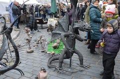 Дракон металла Произведение искусства стоковое изображение rf