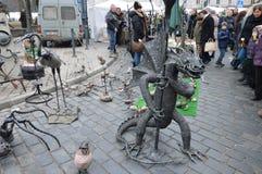 Дракон металла Произведение искусства стоковая фотография