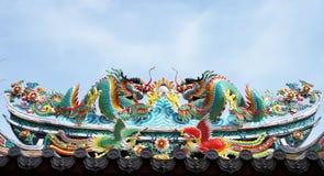 Дракон на крыше Стоковые Изображения RF