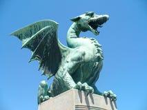 Дракон на мосте Стоковое фото RF