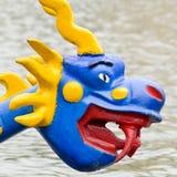 Дракон на смычке шлюпки дракона Стоковое Фото