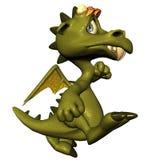 дракон немногая бежит иллюстрация вектора