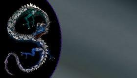дракон предпосылки цветастый Стоковая Фотография