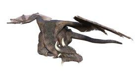дракон сказки перевода 3D на белизне стоковая фотография rf