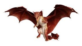 дракон сказки перевода 3D на белизне бесплатная иллюстрация