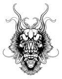 Дракон стиля Woodblock иллюстрация вектора