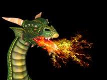 Дракон с огнем Стоковое фото RF