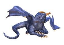 дракон фантазии перевода 3D на белизне Стоковая Фотография