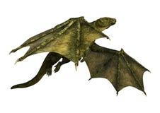 дракон фантазии перевода 3D на белизне Стоковое Фото