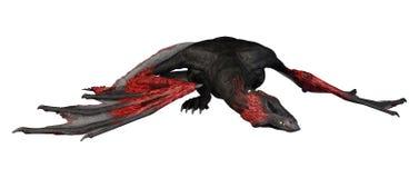 дракон фантазии перевода 3D на белизне Стоковое фото RF
