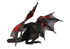дракон фантазии перевода 3D на белизне Стоковое Изображение RF