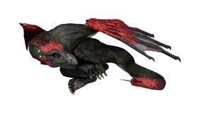 дракон фантазии перевода 3D на белизне Стоковые Фотографии RF