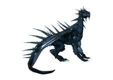 дракон фантазии перевода 3D на белизне Стоковые Изображения