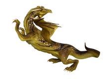 дракон фантазии перевода 3D на белизне Стоковое Изображение
