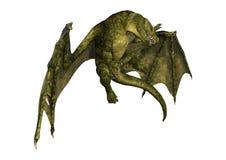 дракон фантазии перевода 3D на белизне Стоковые Изображения RF