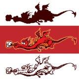 дракон шаржа Стоковое Фото