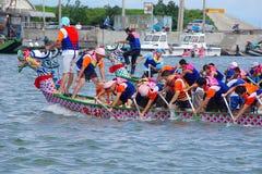 дракон шлюпки участвует в гонке taiwan Стоковое Изображение RF