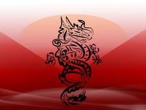 дракон япония иллюстрация штока