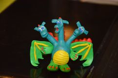 дракон 3-head от пластилина стоковая фотография