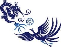 дракон phoenix Стоковое фото RF