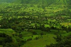 Драматическая деревня landscape-7 Satara Стоковые Изображения