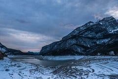 драматическая зима ландшафта Стоковая Фотография