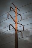Драматические линии электропередач Стоковая Фотография RF