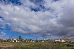 Драматические Канарские острова Испания Oliva Фуэртевентуры Las Palmas Ла неба Стоковые Изображения RF