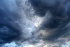 Драматические облака Стоковое Изображение