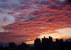 Драматический восход солнца города Стоковое Изображение