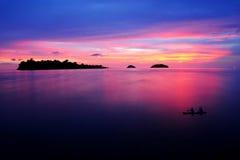 драматический заход солнца места Стоковая Фотография
