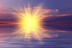 драматический заход солнца неба Стоковые Фото
