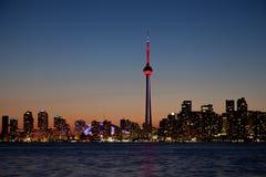 Драматический заход солнца, Торонто, Канада Стоковая Фотография RF