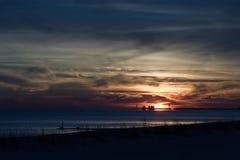 драматический заход солнца Стоковая Фотография RF