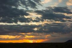 Драматический заход солнца в Неш-Мексико Стоковое Изображение RF