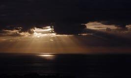 Драматический заход солнца в Тенерифе, Испании Стоковое фото RF