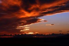 Драматический заход солнца в Тенерифе, Испании Стоковые Изображения