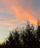 Драматический заход солнца и небо восхода солнца Стоковое Изображение