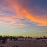 Драматический заход солнца и небо восхода солнца Стоковое Фото