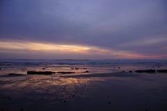 Драматический заход солнца океана Стоковое Фото