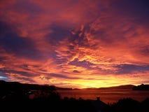 Драматический заход солнца 2 стоковое изображение