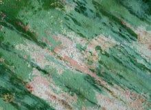 Драматический зеленый цвет покрасил старую стену с откалывать штукатурить стоковые фото