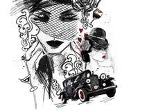 Драматический романтичный рассказ о трагедии денег страсти одиночества влюбленности обжуливая Стоковое фото RF