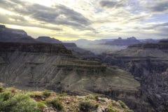 Драматический свет грандиозного каньона стоковые изображения