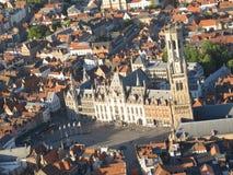 Драматический собор Бельгия вида с воздуха стоковая фотография rf