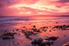 Драматический seascape пункта сливы Стоковые Изображения