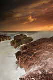Драматическое место пляжа настроения Стоковое Изображение