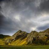 драматическое небо гор Стоковые Изображения